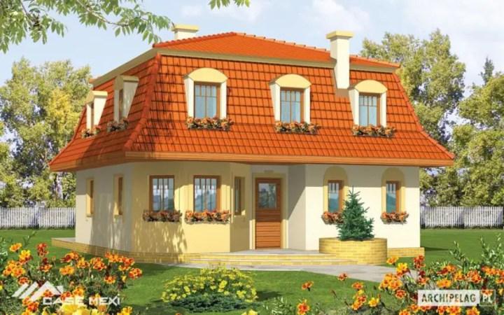 Proiecte de case mici, sub 120 de mp - un contrast puternic si placut deopotriva