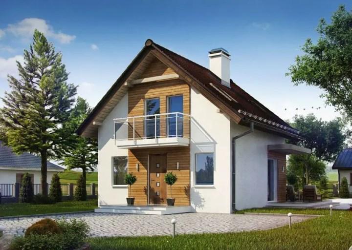 Proiecte de case mici, sub 120 de mp - balcoane din sticla