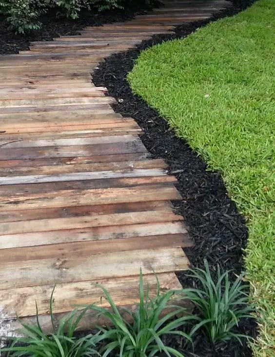 alei de gradina din lemn Garden wooden walkways 1