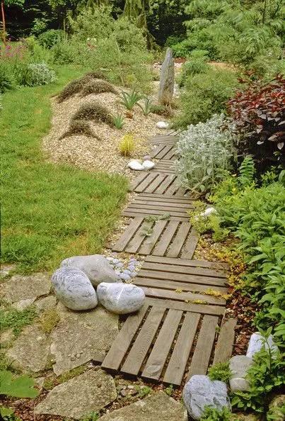 alei de gradina din lemn Garden wooden walkways 10