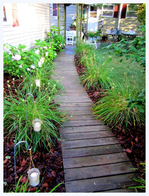 alei de gradina din lemn Garden wooden walkways 4