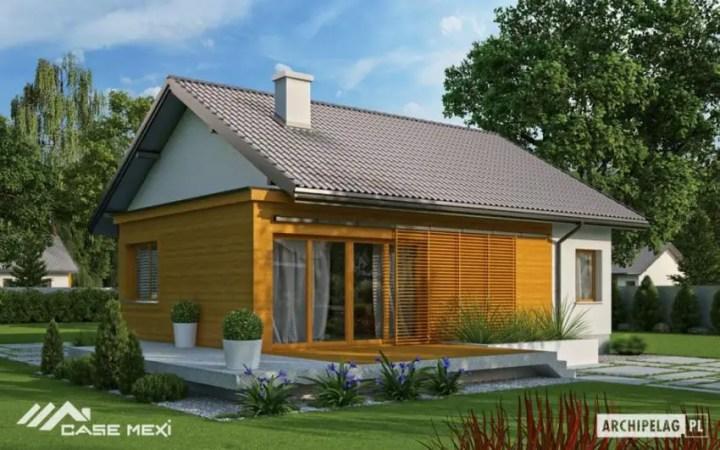 Casa si gradina pe 300 de mp - o casa mica, imbracata in lemn