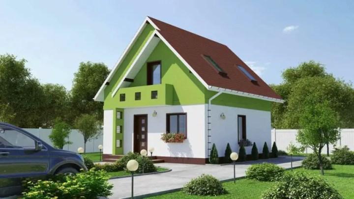 Casa si gradina pe 300 de mp - contraste frumoase