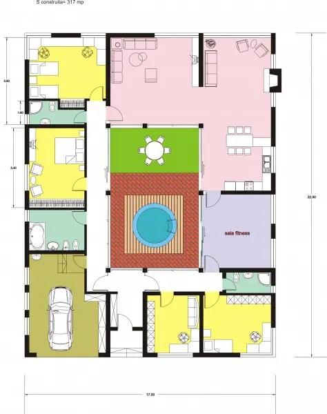 case cu gradina interioara Interior courtyard houses 4