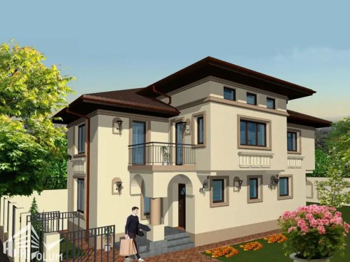 casa pe teren ingust; casa parter cu etaj; casa P+M; casa pe calcan; casa pe teren ingust; proiect casa cu etaj; proiect casa pe teren ingust; proiect locuinta cu etaj.