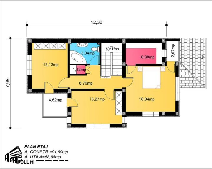 proiect casa pe calcan, proiect locuinta teren ingust, proiect casa cu etaj pe calcan, proiect casa bucuresti, proiect locuinta pe teren ingust