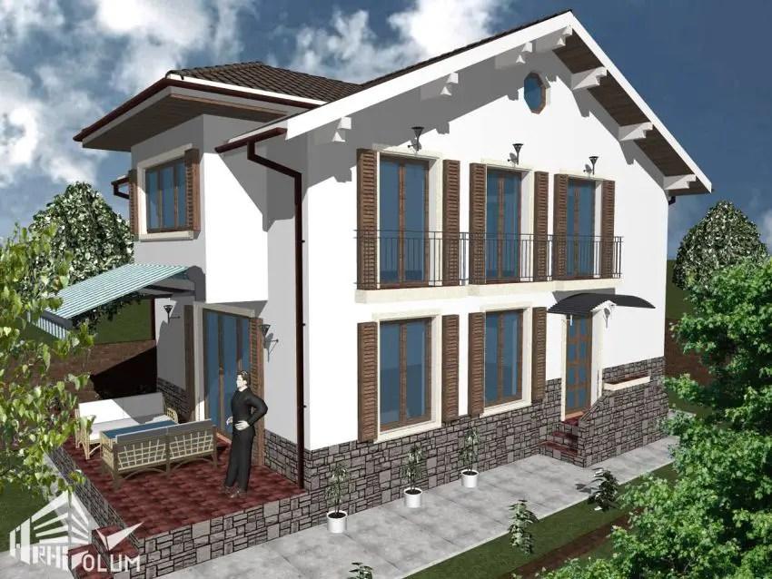 Case cu latimea de 7 metri 3 proiecte generoase case practice - Meter wide house plans ...