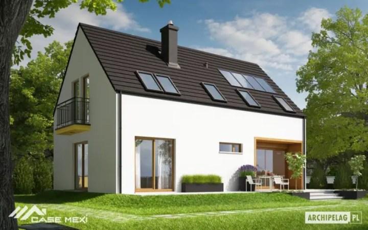 Case cu mansarda si balcoane - arhitectura scandinava