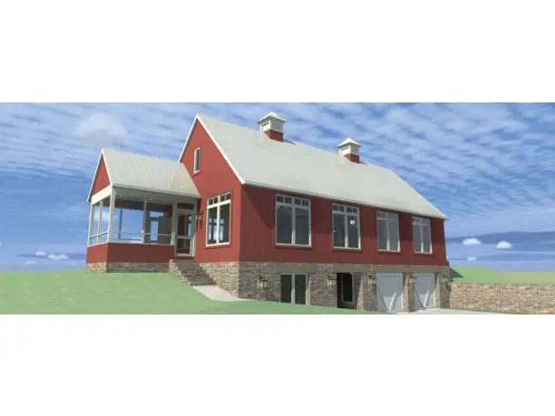 Case cu mansarda si garaj subteran - lemn, piatra si sticla