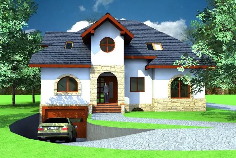 Case cu mansarda si garaj subteran spatii complete case practice - Loft houses with underground garage ...