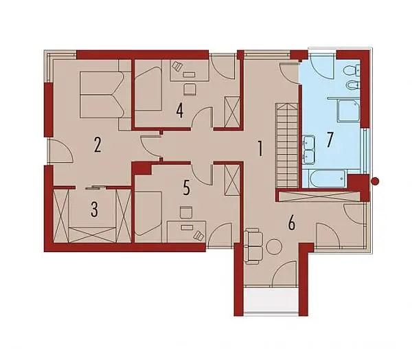 case medii pe doua nivele Medium sized two story house plans 17