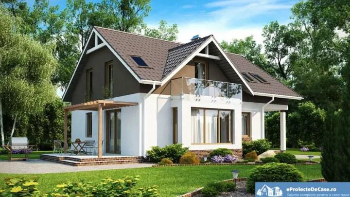 case medii pe doua nivele Medium sized two story house plans 2