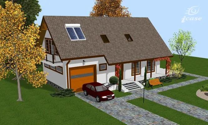 case medii pe doua nivele Medium sized two story house plans 6