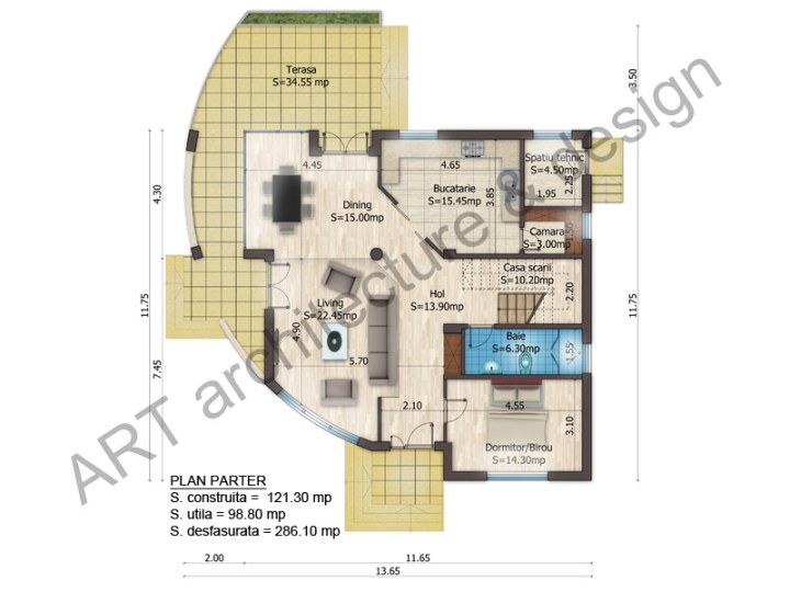 case mici cu etaj si mansarda Three story house plans 8