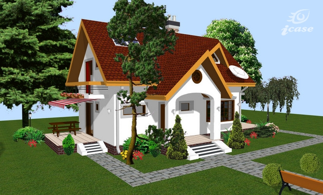 case mici cu lucarne Small dormer house plans 10