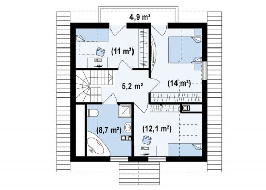 case mici cu lucarne Small dormer house plans 8