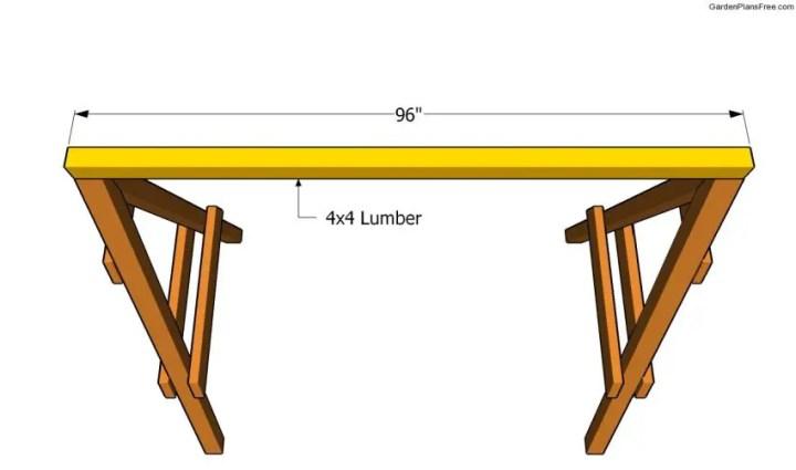 cum construiesti un leagan de gradina Building a garden swing seat 5