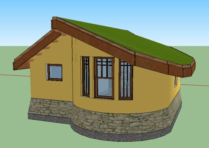 o casa din lut cob house 5