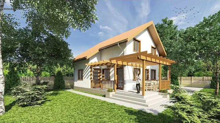 Proiecte de case economice - spatii exterioare generoase