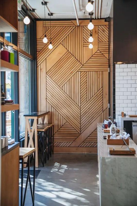 Interioare cu lambriu de lemn wood panel design ideas 13