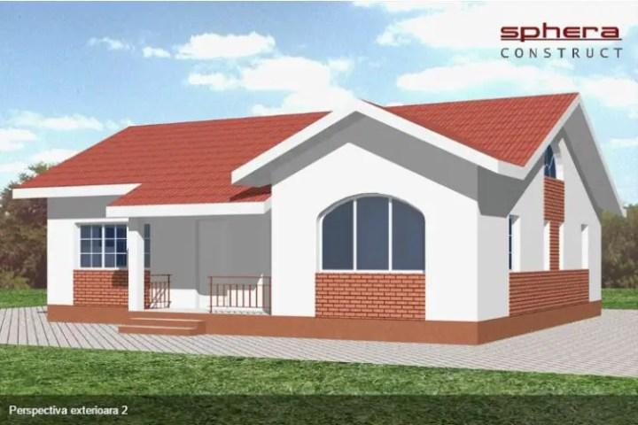 case cu doua dormitoare Two bedroom single story house plans 9