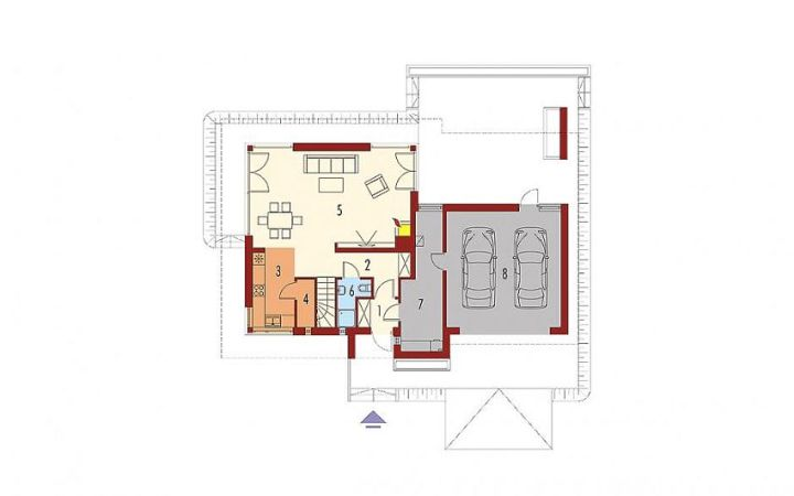 case cu etaj si garaj integrat Two story flat roof houses with garage 8
