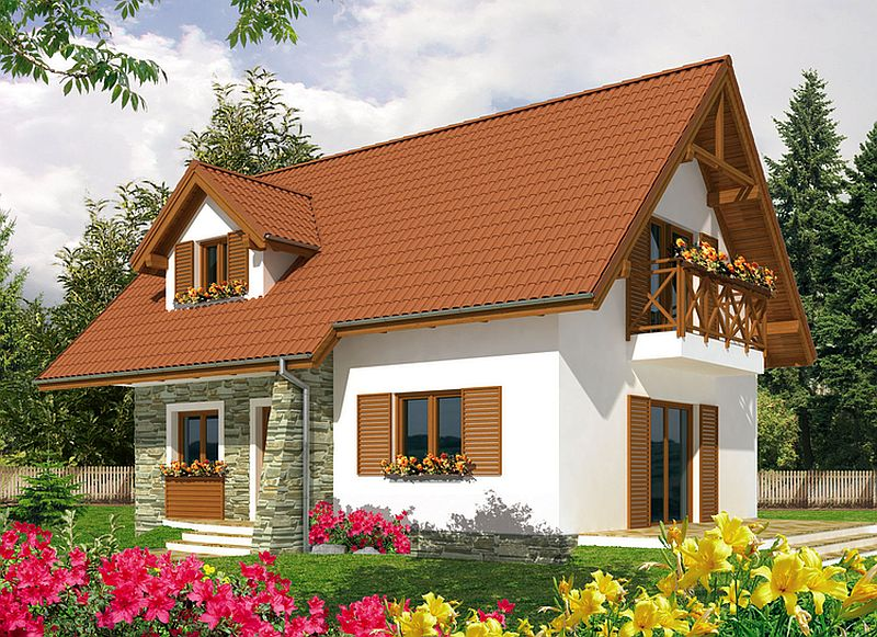 Case de vis cu mansarda trei proiecte captivante cu for Arhitectura case cu mansarda