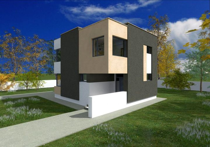 Case ieftine cu etaj - jocuri de forme si culori