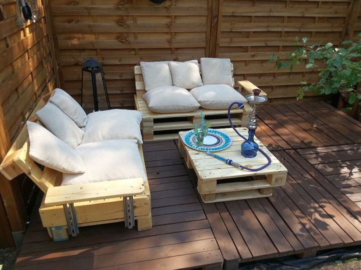 terasa din paleti Wood pallet deck ideas