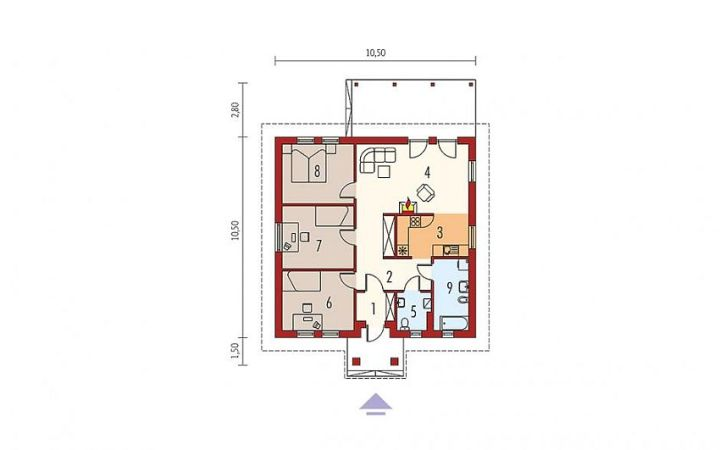 proiecte-de-case-cu-parter-si-trei-dormitoare-three-bedroom-single-story-house-plans-5