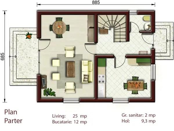 Proiecte de case pentru o familie cu patru membri Best house plans for a family of four 2