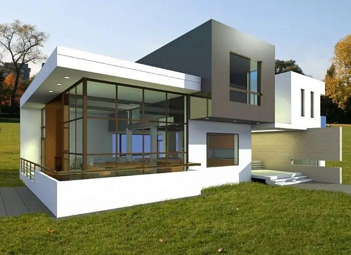 case cu acoperis terasa deck roof houses 4