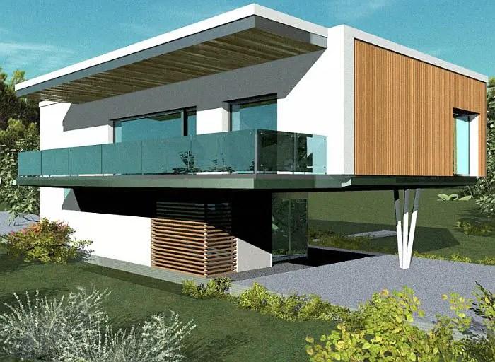 case cu acoperis terasa deck roof houses 6