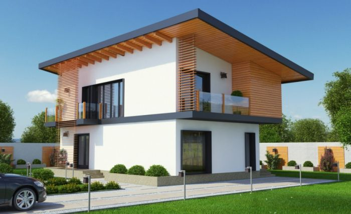 case cu acoperis terasa deck roof houses 7