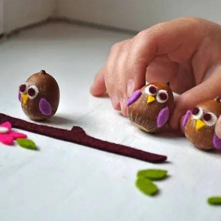 decoratiuni din ghinde si castane Acord and chestnut crafts 11