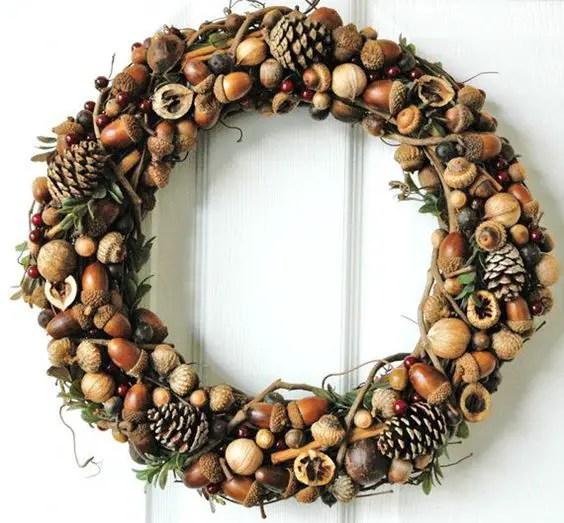decoratiuni din ghinde si castane Acord and chestnut crafts 22