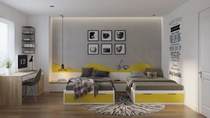 dormitoare in gri grey bedrooms 11