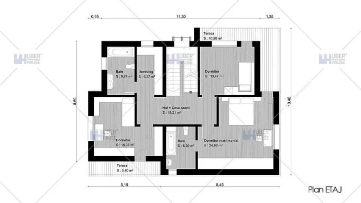 proiecte de case moderne cu etaj Modern two story house plans 12