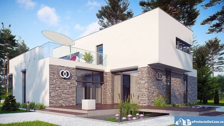 proiecte de case moderne cu etaj Modern two story house plans 5