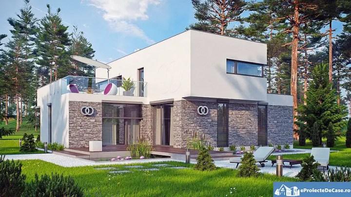 proiecte de case moderne cu etaj Modern two story house plans 6