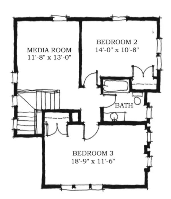 case de vis cu trei dormitoare 2 plan etaj