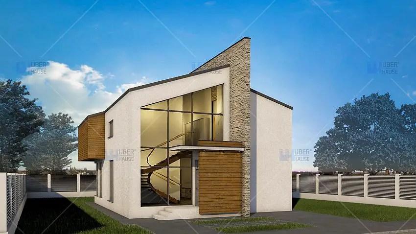3 case de vis pe doua nivele arhitectura cu for Arhitectura case cu mansarda