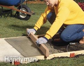 turnarea unei alei de beton nivelarea