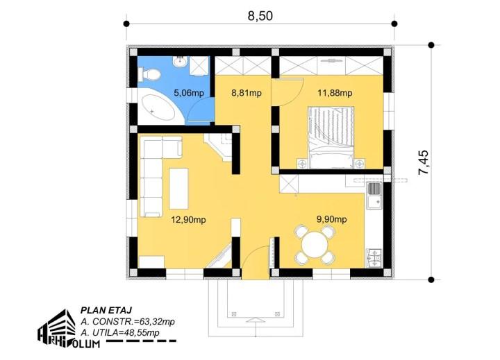 case pentru un cuplu tanar 1 plan