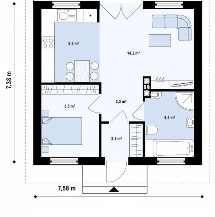 case pentru un cuplu tanar 2 plan
