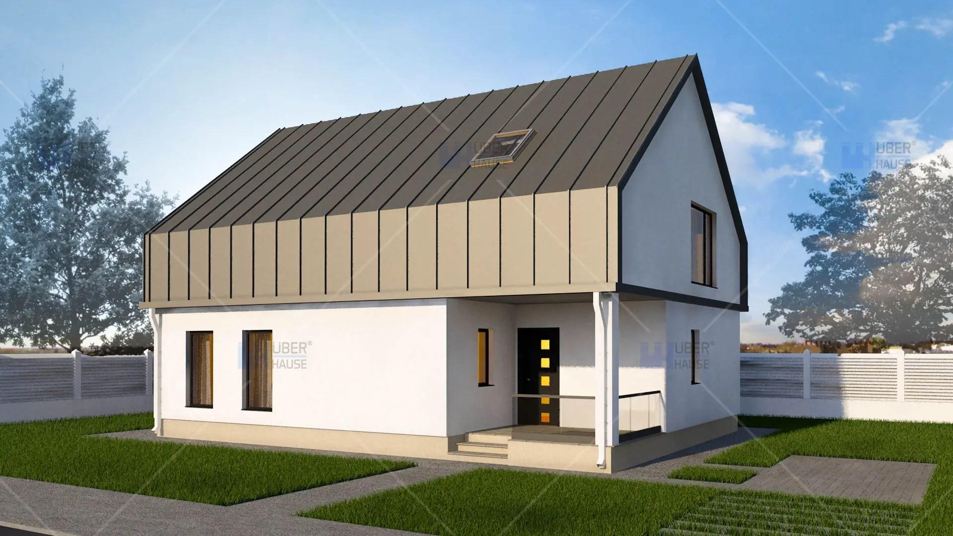 Proiecte de casa cu parter si mansarda locuinte for Proiecte case cu garaj