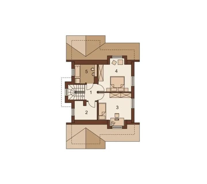proiecte de case in doua culori 2 plan mansarda