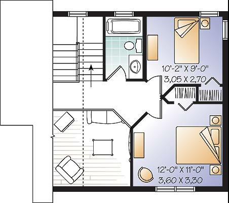 case cu amprenta la sol de 50 mp 2 plan mansarda