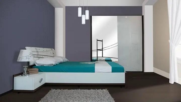 dormitor-turcoaz-violet