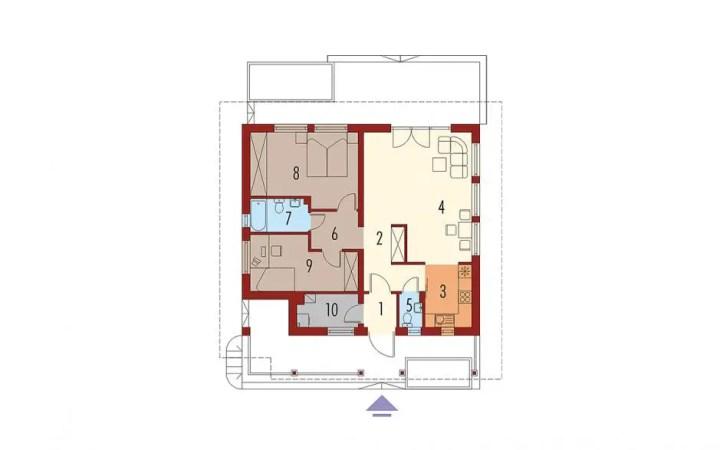 modele de case mici pentru parinti 2 plan